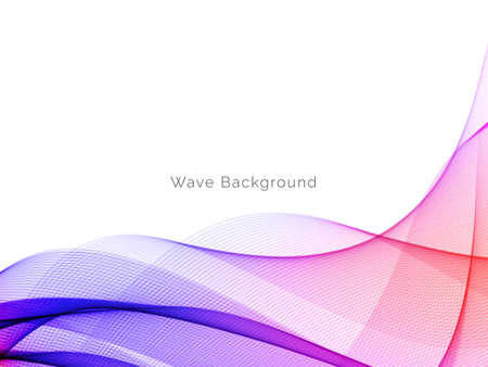 Illustration pour Abstract background with colorful flowing wave design vector - image libre de droit