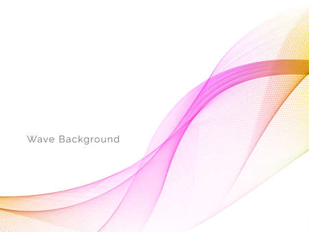 Illustration for Decorative background with colorful wave design vector - Royalty Free Image