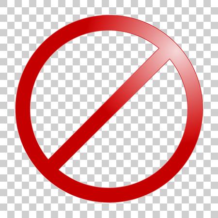 Illustration pour Stop sign. No sign template. Vector realistic illustration. - image libre de droit