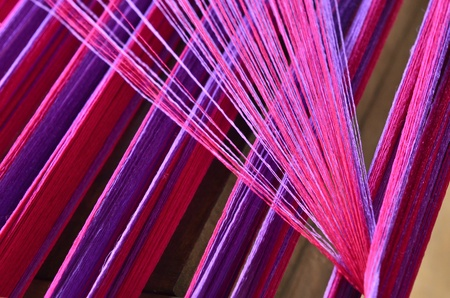 Sewing threads for silk industry