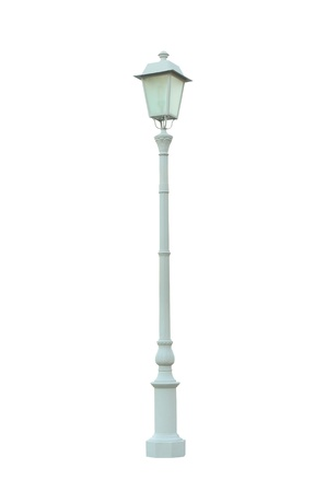 Vintage Lamp Post Lamppost Street Road Light Pole isolated