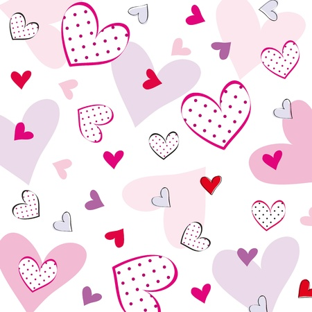 Cute background with hearts on special day