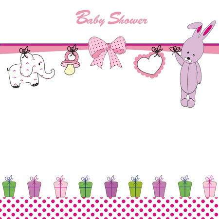Cute baby background on birthday or shower