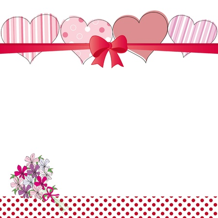 Cute card on valentines day or wedding