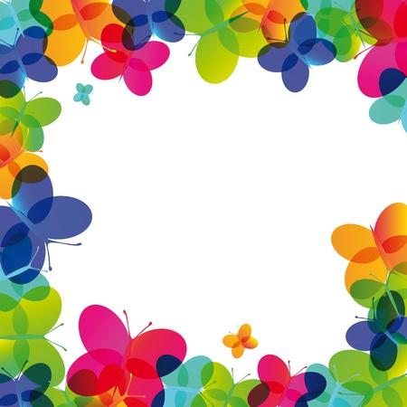 Ilustración de Colorful card on a special occasion with butterfly - Imagen libre de derechos