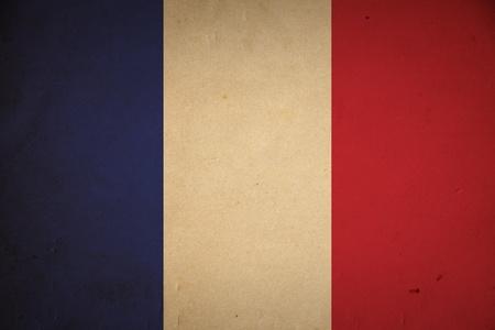 Grunge French flag background.