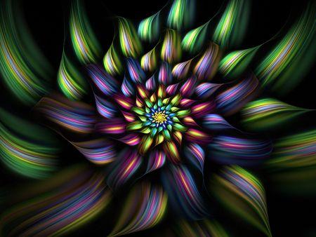 Multicolor fractal flower