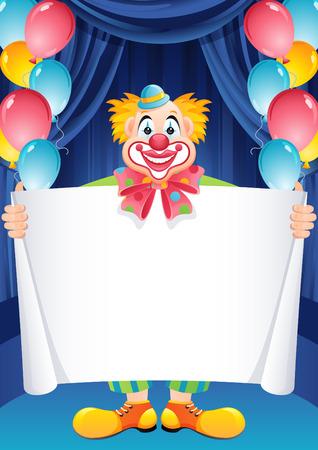 Vector illustration - ginger clown