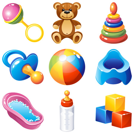 illustration - baby icons set