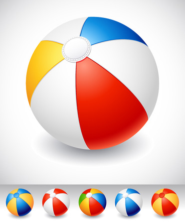 Beach balls on white