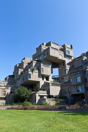 Modular buildings of Habitat 67 in Montreal, Canada