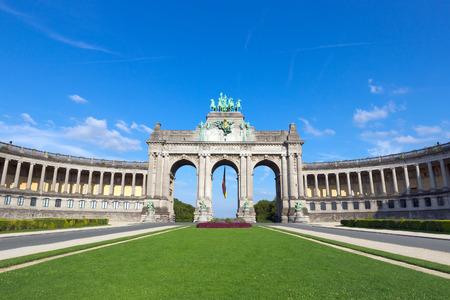 Triumphal arch in the Parc du Cinquantenaire, Brussels, Belgium
