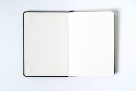 Photo for black notebook on white background with clipping path - Royalty Free Image