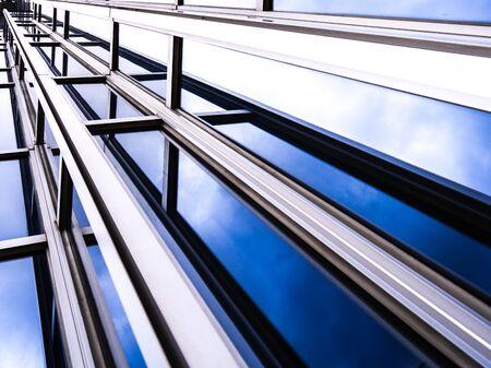 Photo pour Architecture details Modern Building Glass facade Business background - image libre de droit