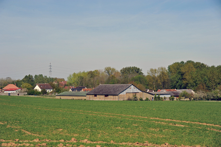 country landscape in Beauce - France
