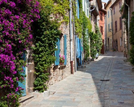 Traditional provencal street scenery