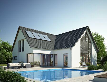 Foto de Modern house with pool 2 - Imagen libre de derechos