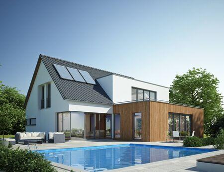 Foto de Modern house with pool 1 - Imagen libre de derechos