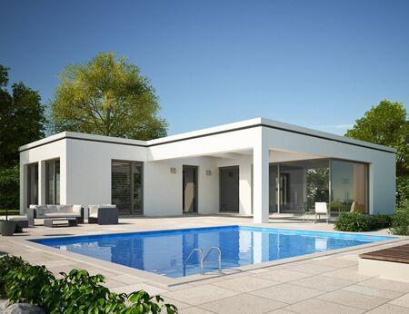 Foto de Modern bungalow with pool - Imagen libre de derechos