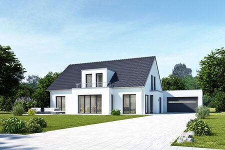 Photo pour Modern house with garage - image libre de droit