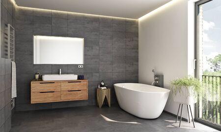 Photo pour Modern bath room - image libre de droit