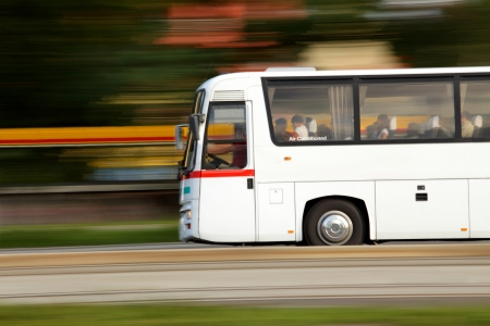 Summer vacation and travel by bus