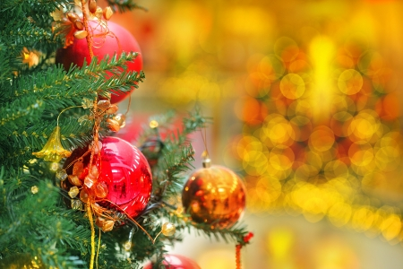 Christmas at the mall, market, shopping center and blur  xmas decoration