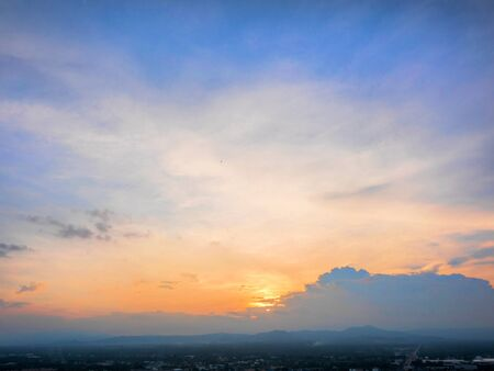 Photo for Twilight sky in the evening over the city - Royalty Free Image