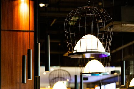 Photo for the restaurant interior and lighting - Royalty Free Image