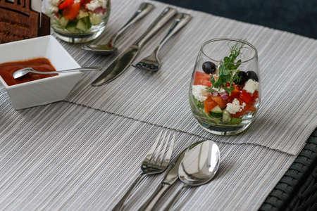 Photo pour Luxury dinner for VIP persons interior decoration - image libre de droit
