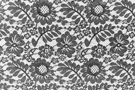Photo pour Black fine lace floral texture - image libre de droit