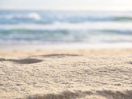 Photo pour close up sand with wave of sea beach - image libre de droit
