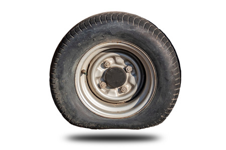 Photo pour Old flat tire tires that separated from the clipingpart white background - image libre de droit