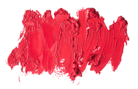 Smudged lipstick abstract textureの写真素材