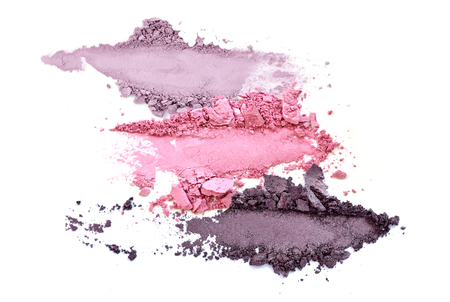 Foto de crushed eyeshadow makeup set isolated - Imagen libre de derechos