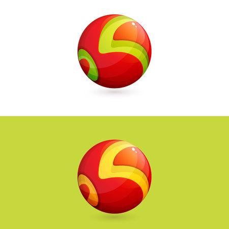 Illustration pour Trendy, vibrant and colorful concept vector design template - image libre de droit