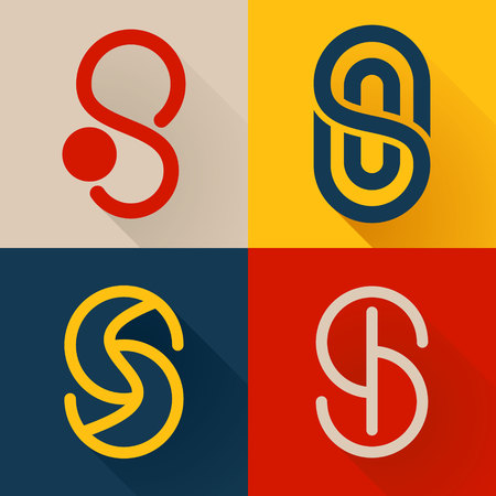 Letter trendy, flat colorful concept. Vector design template elements for your application or corporate identity.