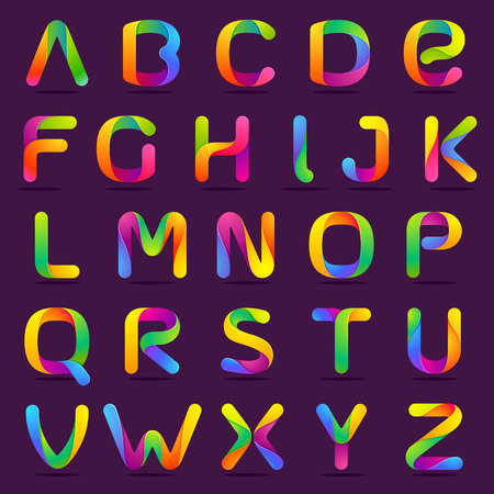 Letter volume colorful concept. Vector design template elements for your application or corporate identity.