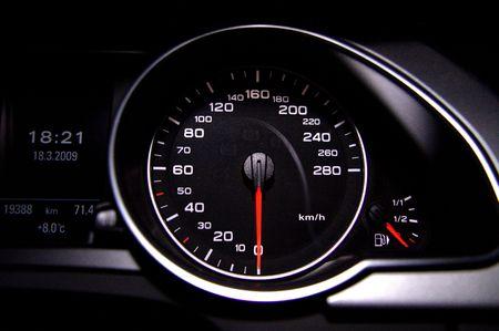 Photo for Black modern speedometer - Royalty Free Image