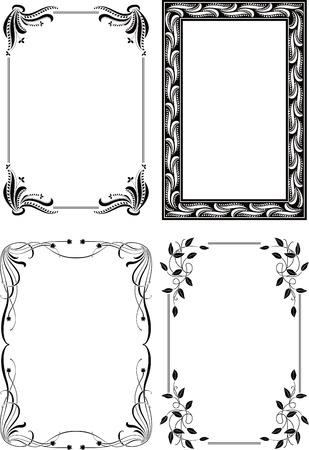 Floral Border Frame Set 5