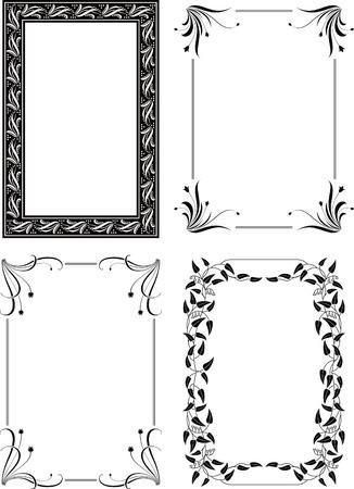 Floral Border Frame Set 4