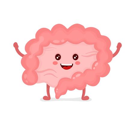 Illustration pour Strong healthy happy Intestine character. - image libre de droit