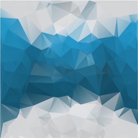 Foto de Abstract polygonal blue vector background of triangles. Eps 10. - Imagen libre de derechos