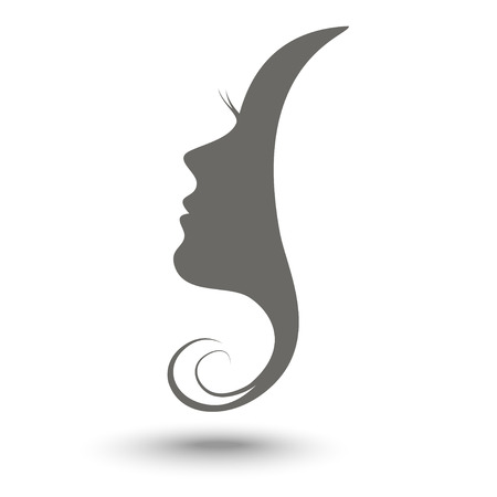 Illustration for Woman profile beauty illustration vector - Royalty Free Image