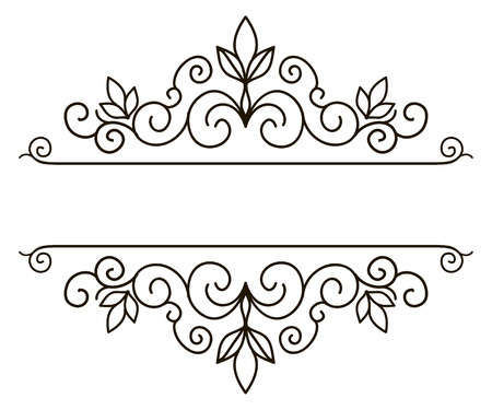 Photo for Vector decorative frame. Elegant element for design template, place for text. Floral border. Lace decor for birthday and greeting card, wedding invitation. - Royalty Free Image