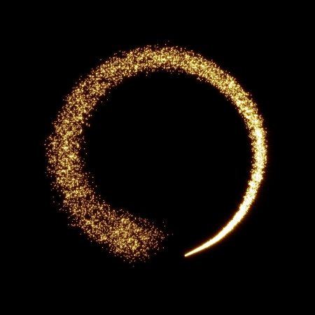 Photo pour Gold glittering star dust circle  - image libre de droit