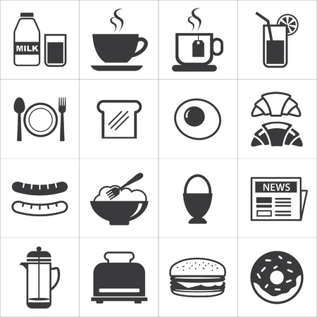 set of breakfast icon