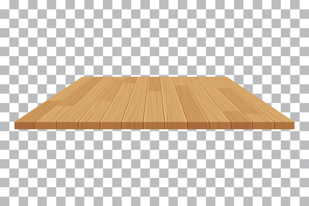 Illustration pour vector wood table top on isolated background - image libre de droit