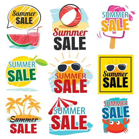 Illustration pour summer sale banner set - image libre de droit