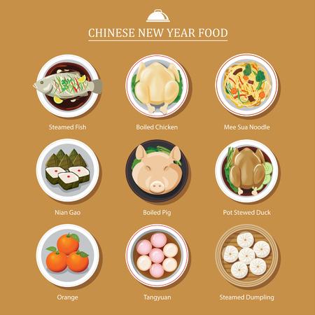 Vektor für food for chinese new year - Lizenzfreies Bild
